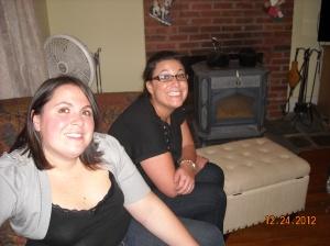 Alana and sister Sarah Christmas 2010