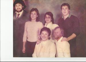 Our family picture after the death of my oldest brother, Rod.