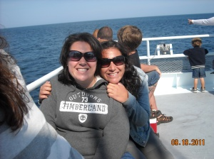Alana Carpenter on whale watch with her sister, Sarah